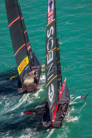 171220  Auckland NZL36th Americas Cup presented by PradaRace Day 1Ineos Team UK Luna Rossa Prada Pir