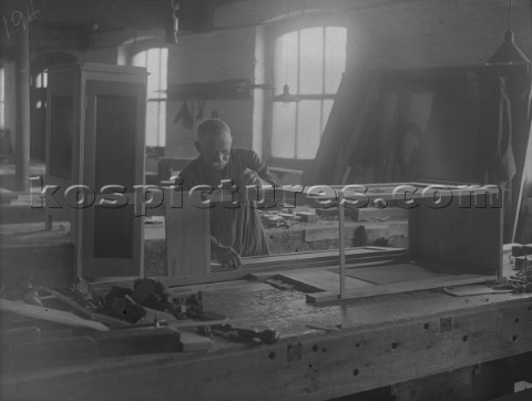Furniture making at Camper and Nicholsons yard in Gosport in 1936