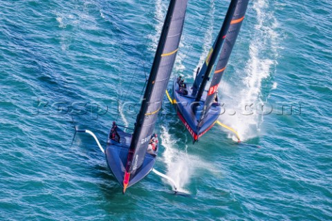 210221  Auckland NZL36th Americas Cup presented by PradaPRADA Cup 2021  Final Day 4Ineos Team UK Lun