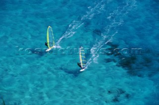 Windsurfing in Florida, USA.